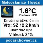 Počasí - Meteostanice Hovězí
